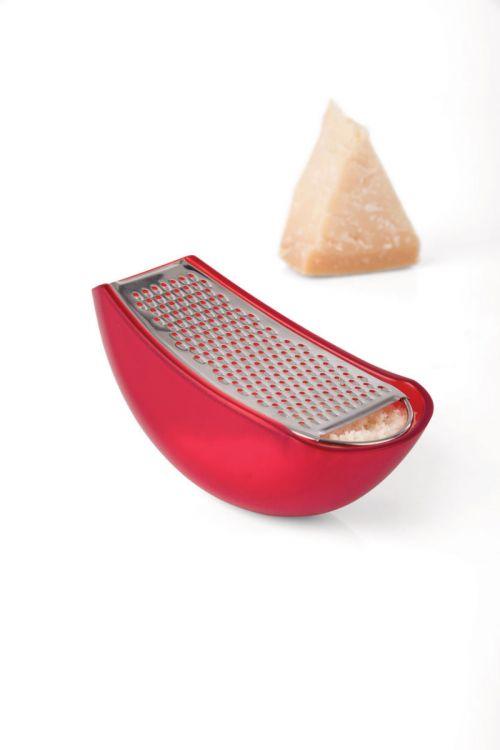 """Alessi tarka sūriui """"Parmenide"""", metalas ir raudonas plastikas"""