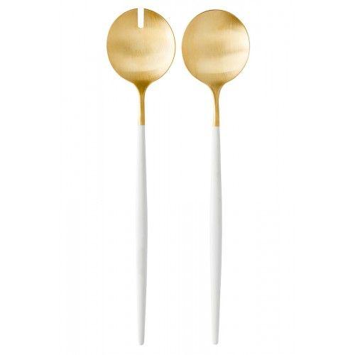 "Cutipol salotų serviravimo įrankiai ""Goa White Gold"", balta-auksas, 2 vnt."