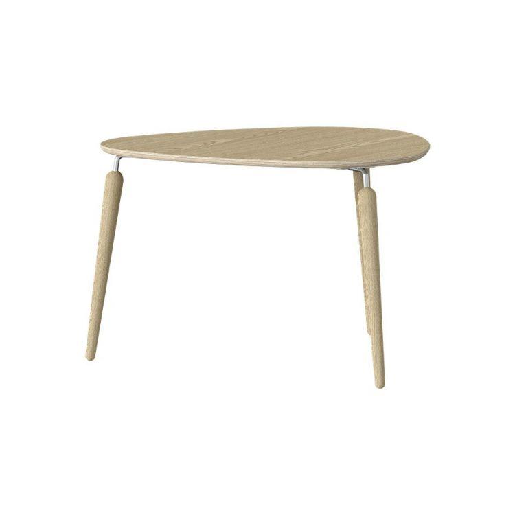 """Umage šviesaus ąžuolo (su sidabro spalvos detalėmis) kavos staliukas """"Hang Out"""""""
