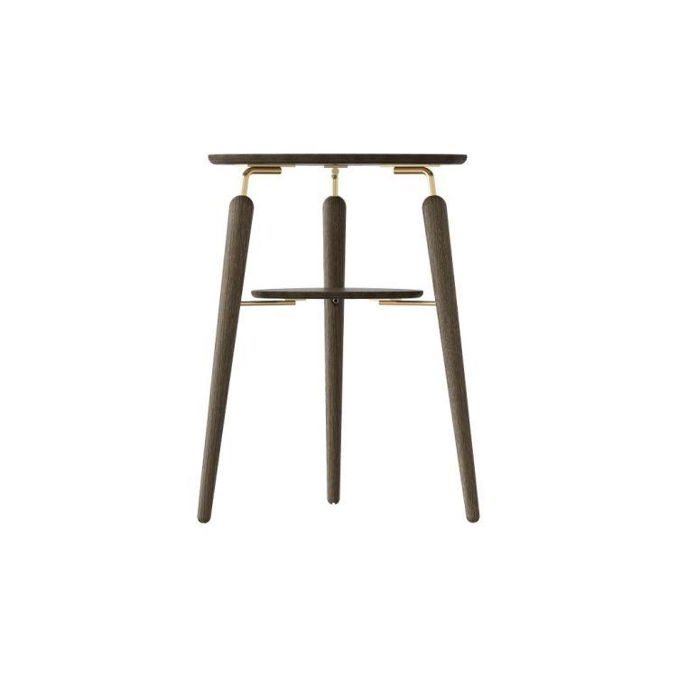 """Umage tamsaus ąžuolo (su aukso spalvos detalėmis) staliukas su lentynėle """"My Spot"""""""